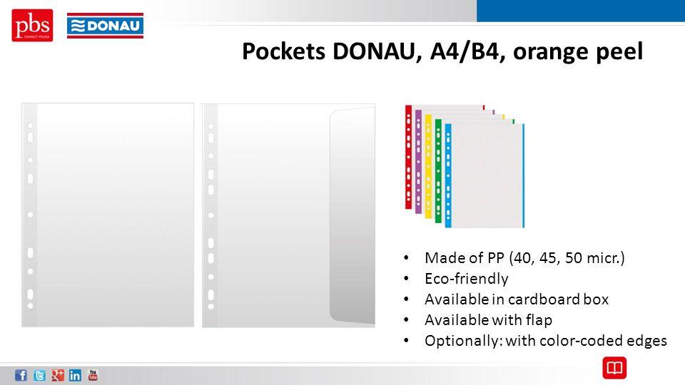 Pockets DONAU, A4/B4, orange peel