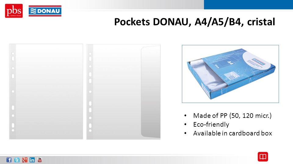 Pockets DONAU, A4/A5/B4, cristal