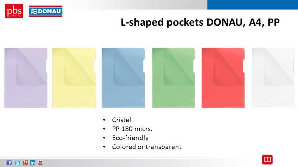 L-shaped pockets DONAU, A4, PP