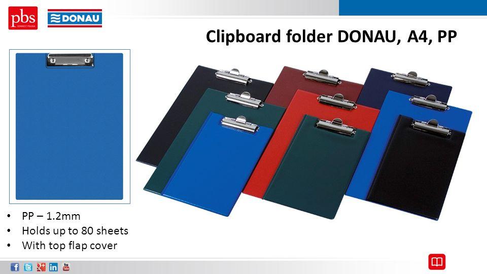 Clipboard folder DONAU, A4, PP