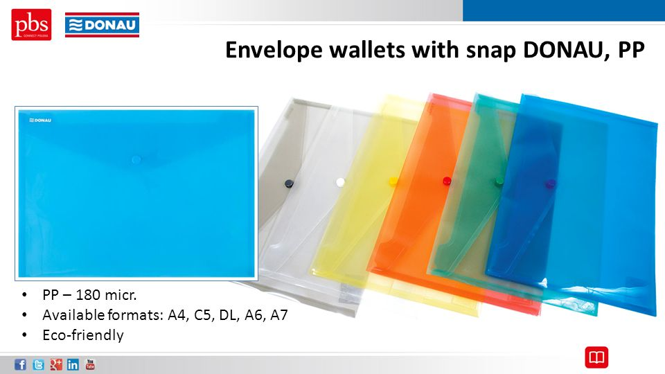 Envelope wallets with snap DONAU, PP