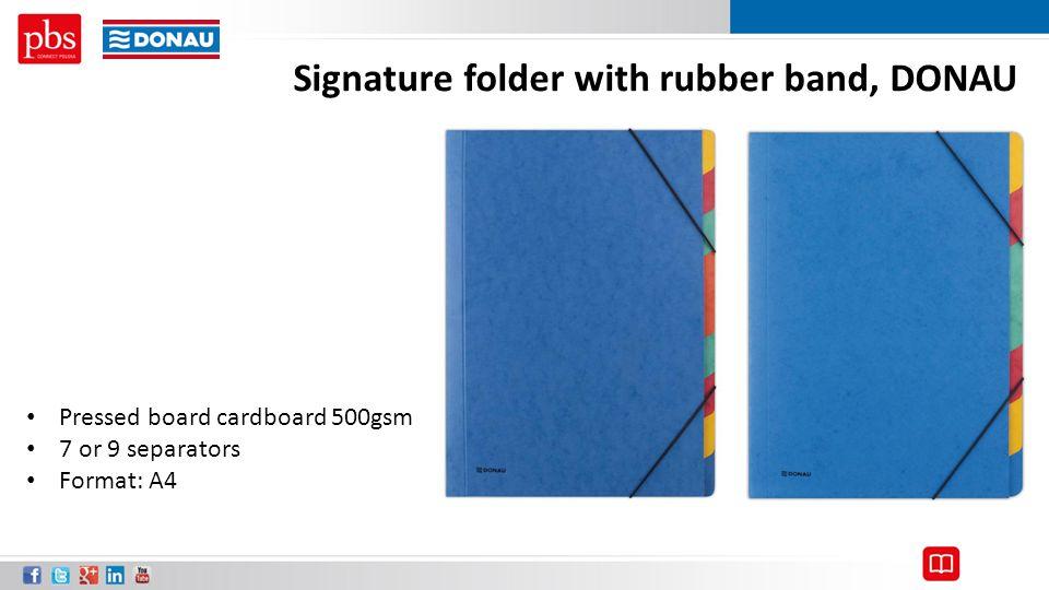 Signature folder with rubber band, DONAU