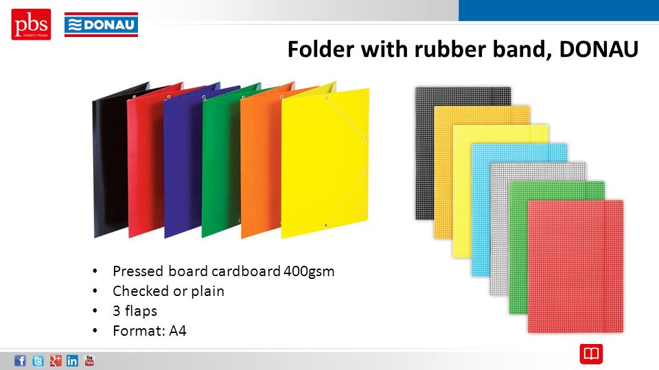 Folder with rubber band, DONAU