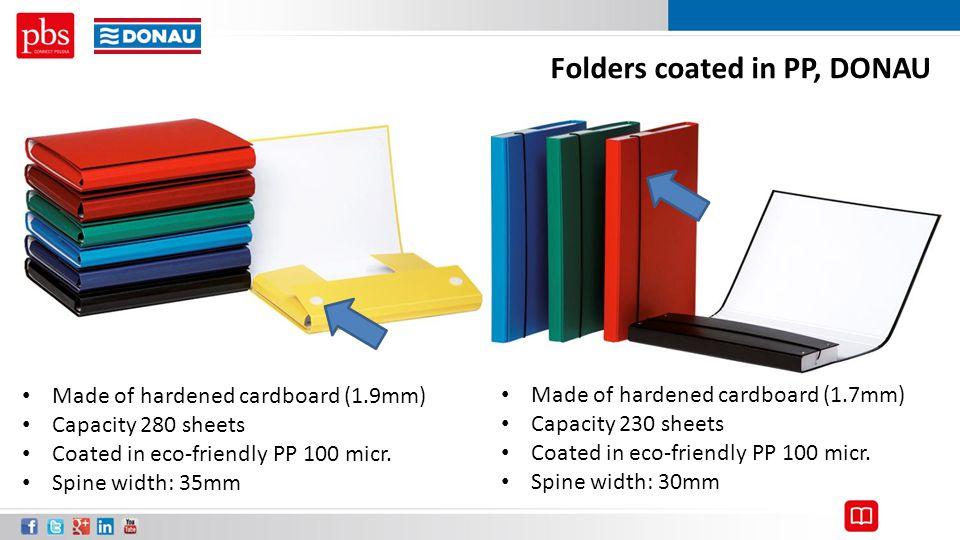 Folders coated in PP, DONAU