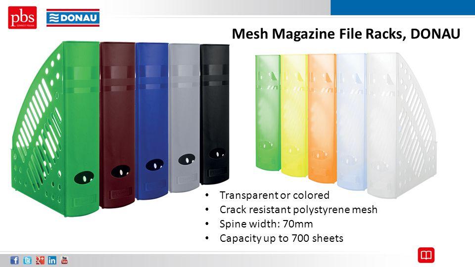 Mesh Magazine File Racks, DONAU