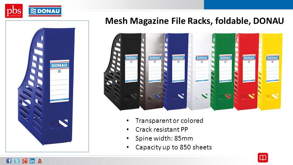 Mesh Magazine File Racks, foldable, DONAU