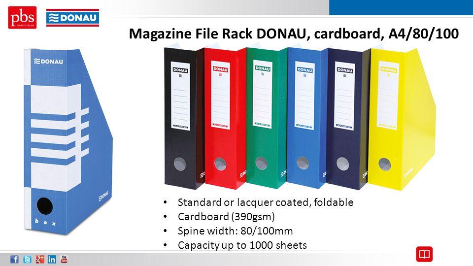 Magazine File Rack DONAU, cardboard, A4/80/100