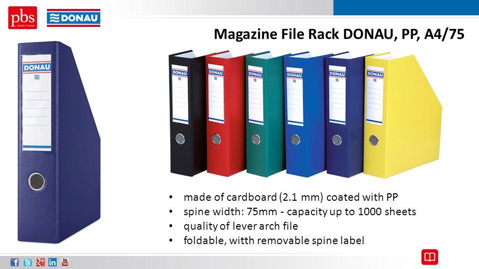 Magazine File Rack DONAU, PP, A4/75