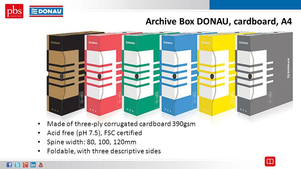 Archive Box DONAU, cardboard, A4