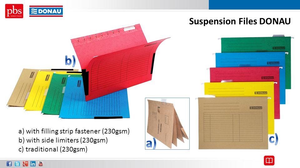 b) c) a) Suspension Files DONAU