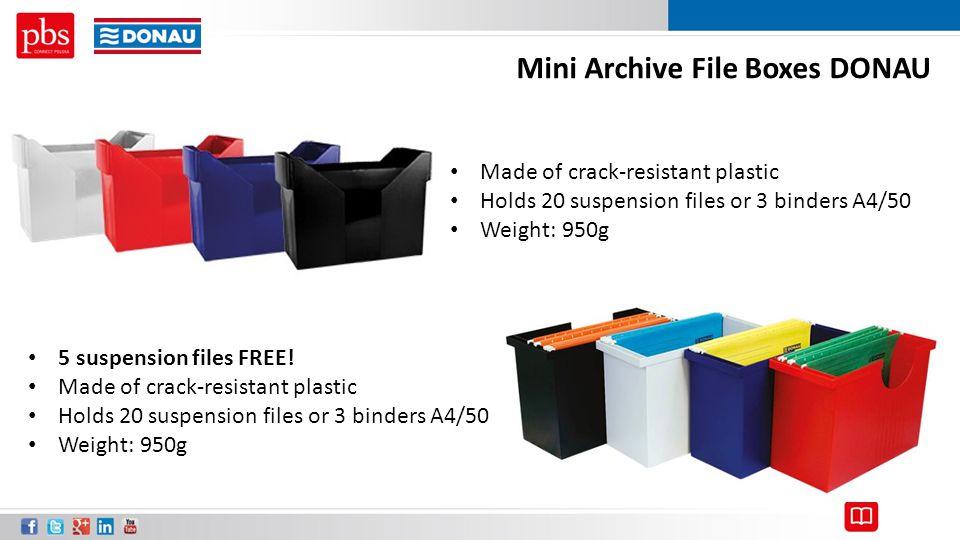 Mini Archive File Boxes DONAU