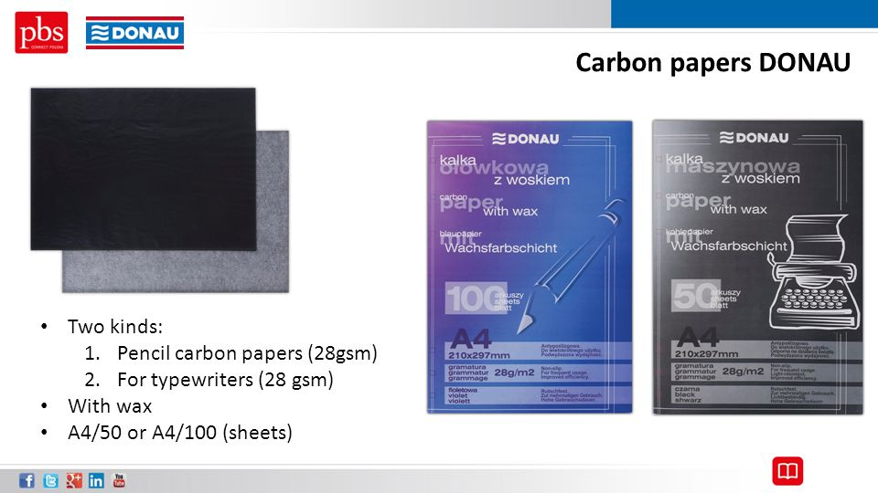 Carbon papers DONAU Two kinds: Pencil carbon papers (28gsm)