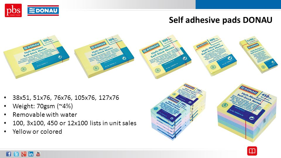 Self adhesive pads DONAU