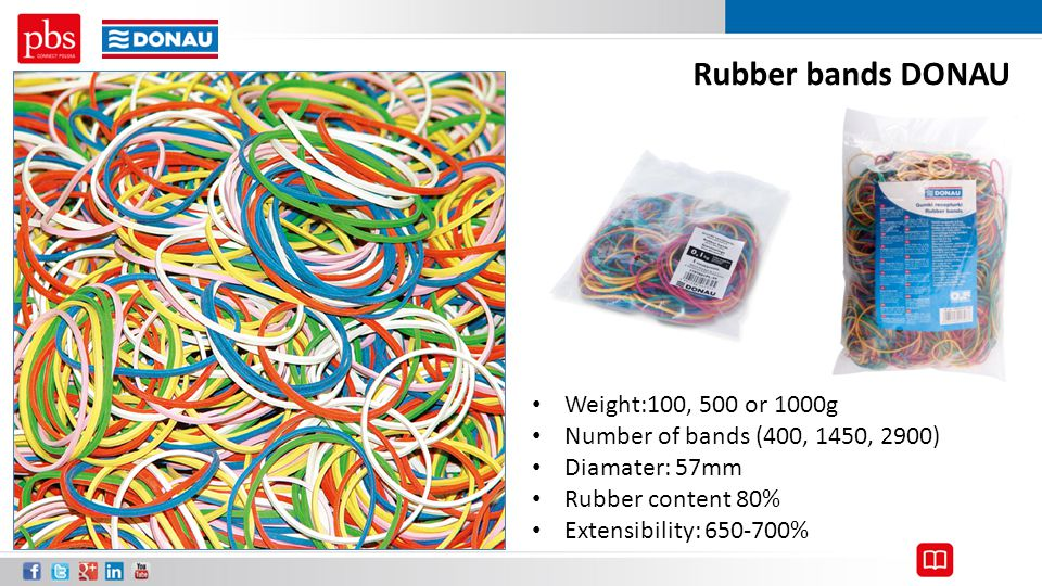 Rubber bands DONAU Weight:100, 500 or 1000g
