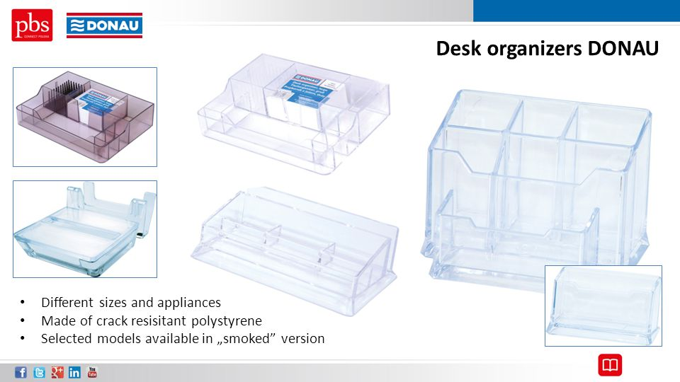Desk organizers DONAU Different sizes and appliances