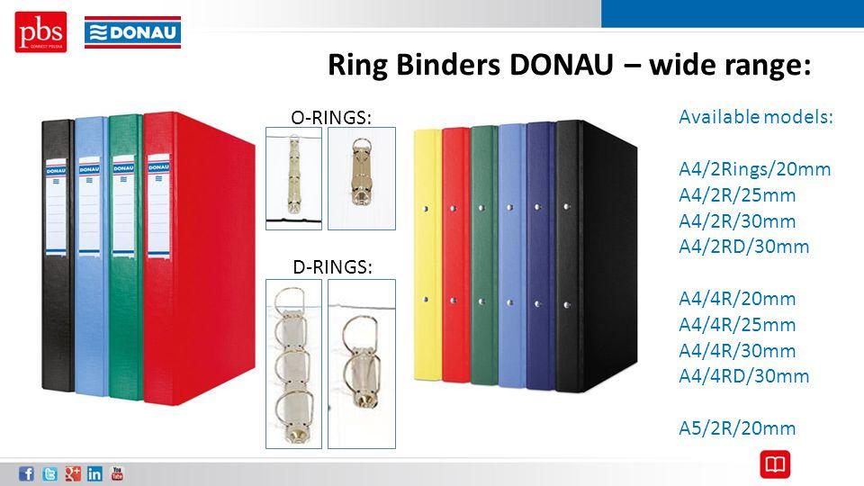 Ring Binders DONAU – wide range: