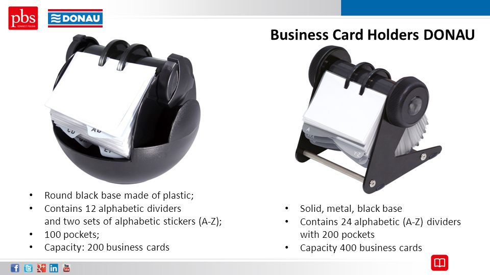 Business Card Holders DONAU