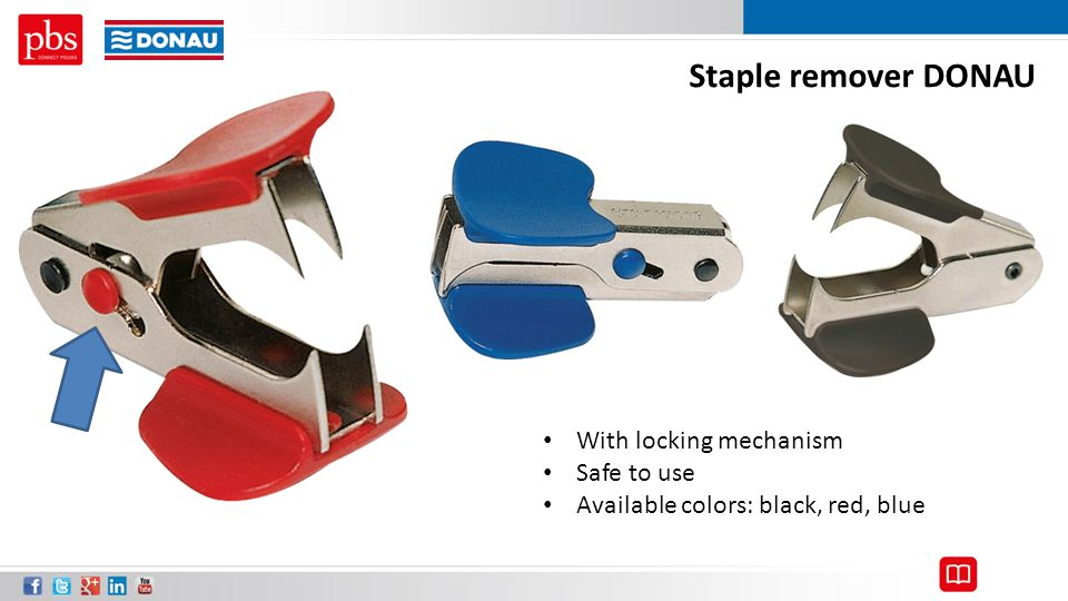 Staple remover DONAU With locking mechanism Safe to use