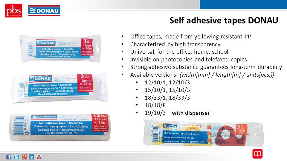 Self adhesive tapes DONAU
