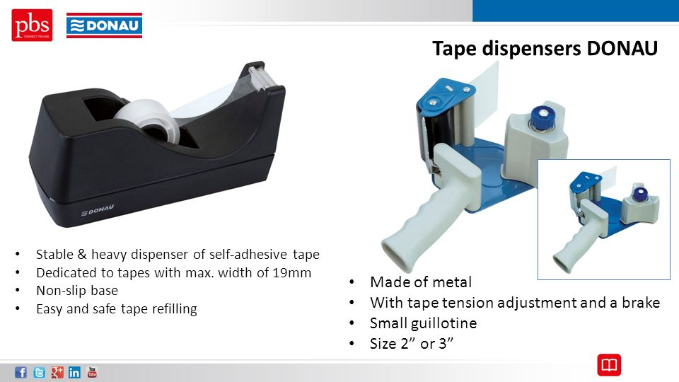 Tape dispensers DONAU Made of metal