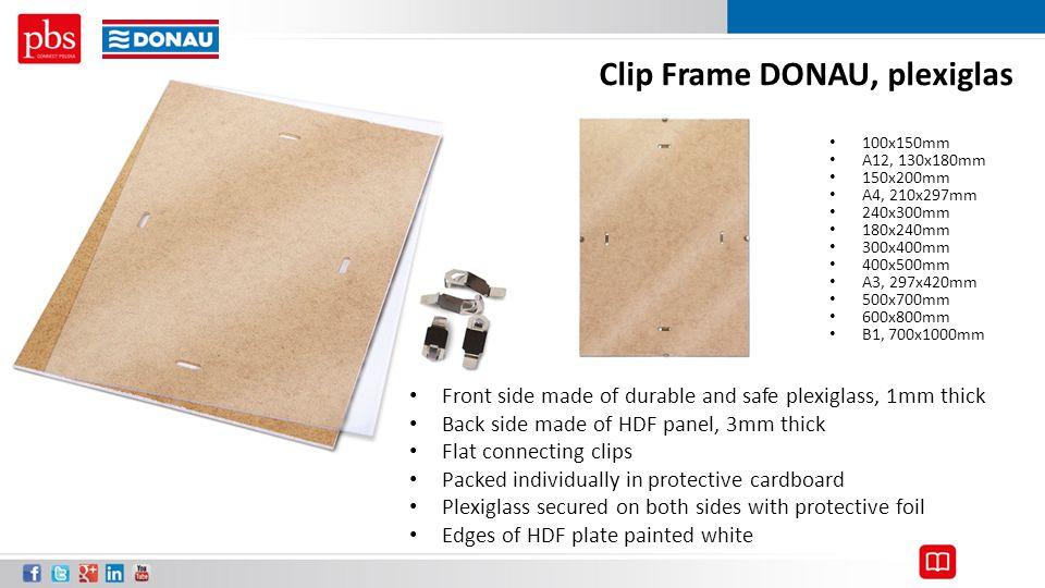 Clip Frame DONAU, plexiglas