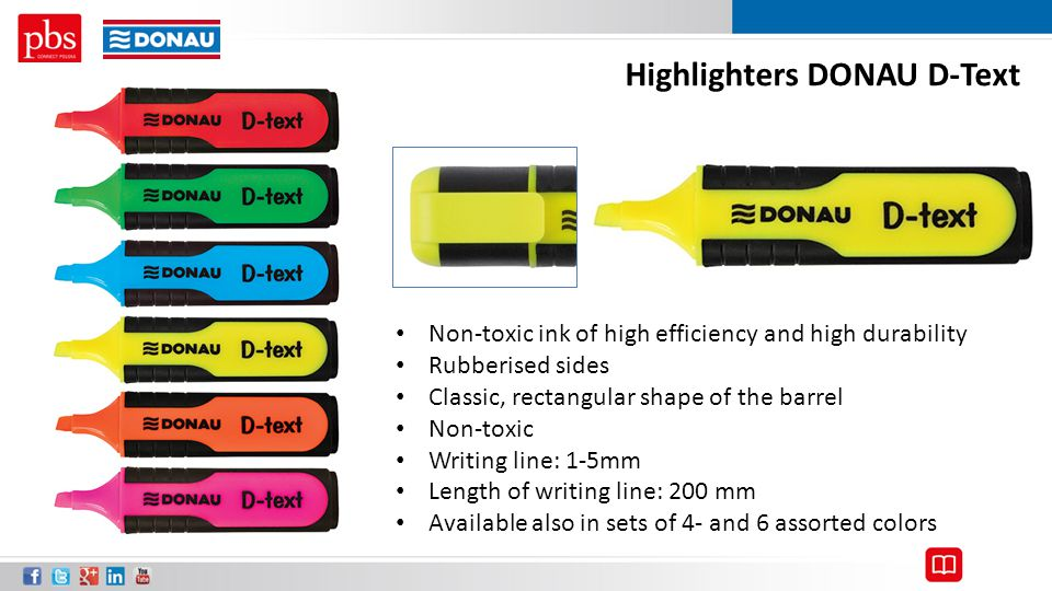 Highlighters DONAU D-Text
