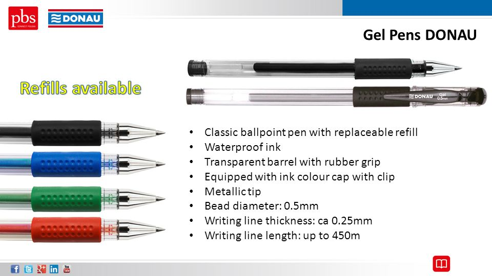 Refills available Gel Pens DONAU