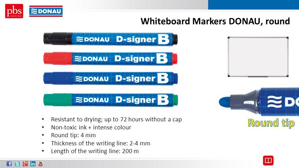 Round tip Whiteboard Markers DONAU, round