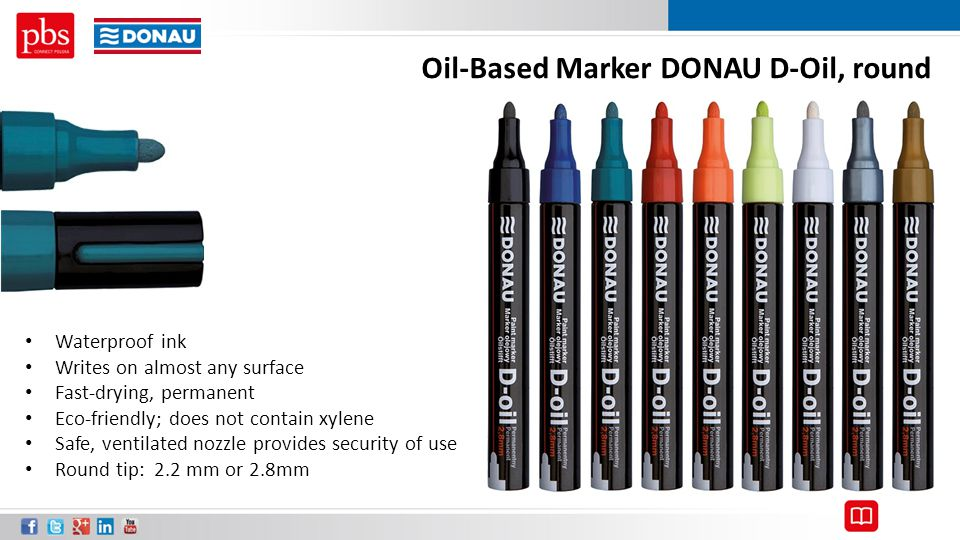 Oil-Based Marker DONAU D-Oil, round