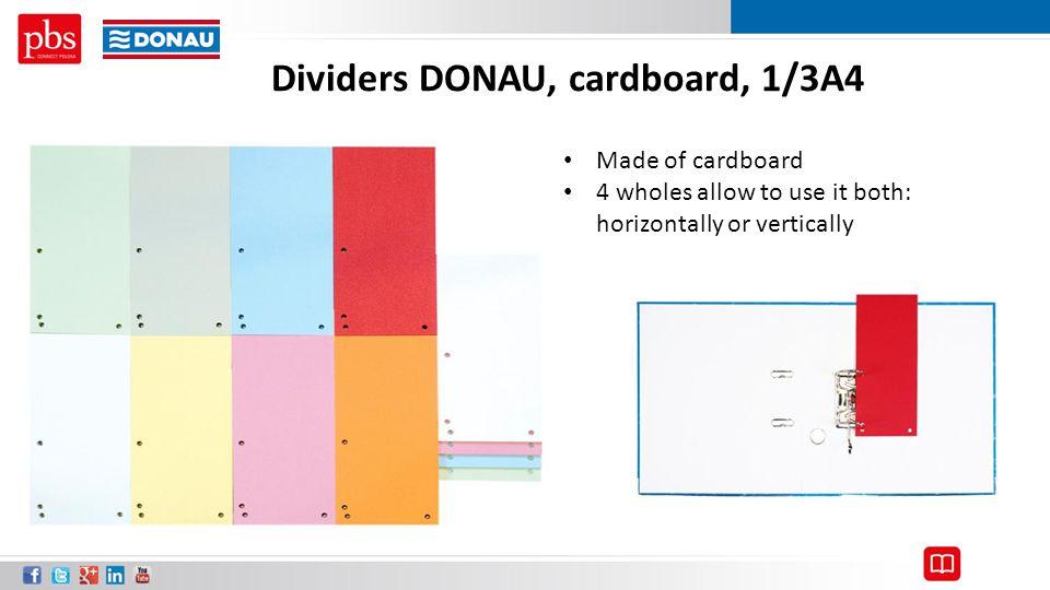 Dividers DONAU, cardboard, 1/3A4