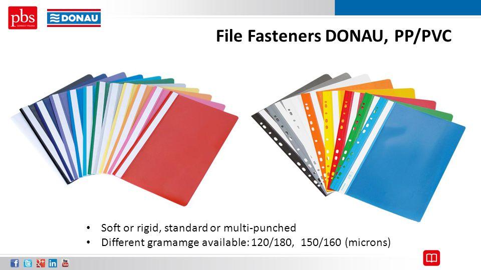 File Fasteners DONAU, PP/PVC