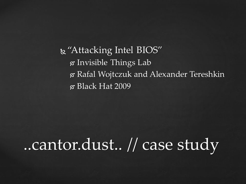 ..cantor.dust.. // case study