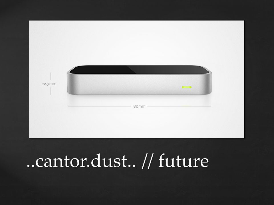 ..cantor.dust.. // future