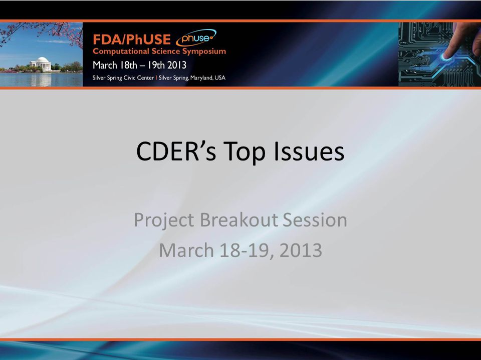 Project Breakout Session March 18-19, 2013
