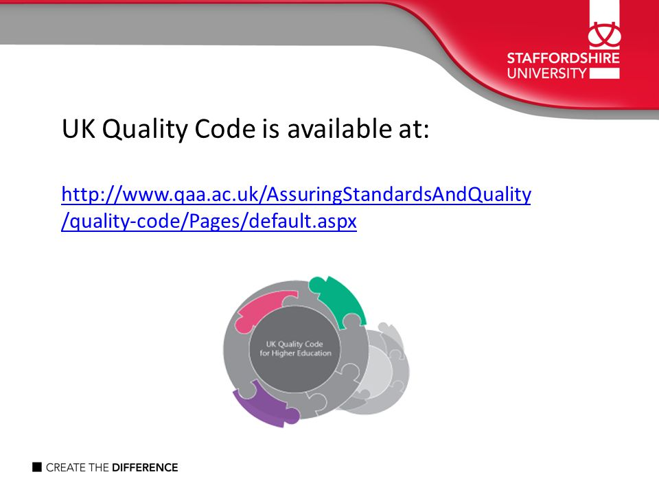 UK Quality Code is available at: