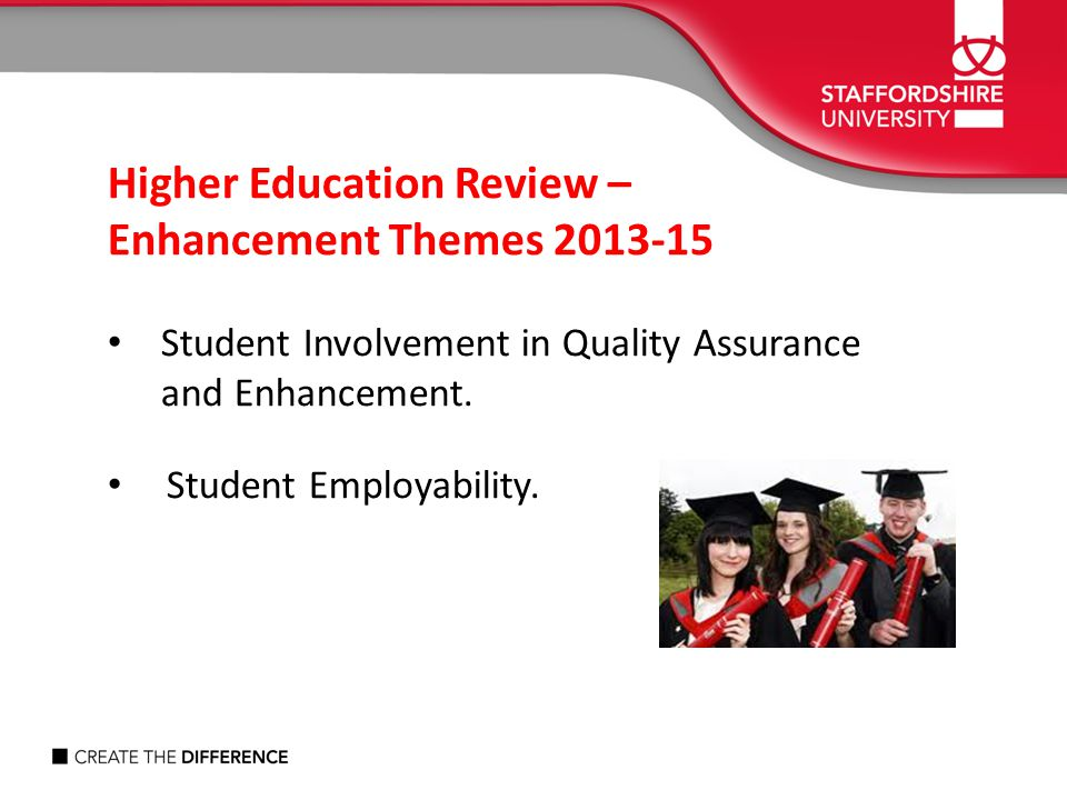 Higher Education Review – Enhancement Themes 2013-15