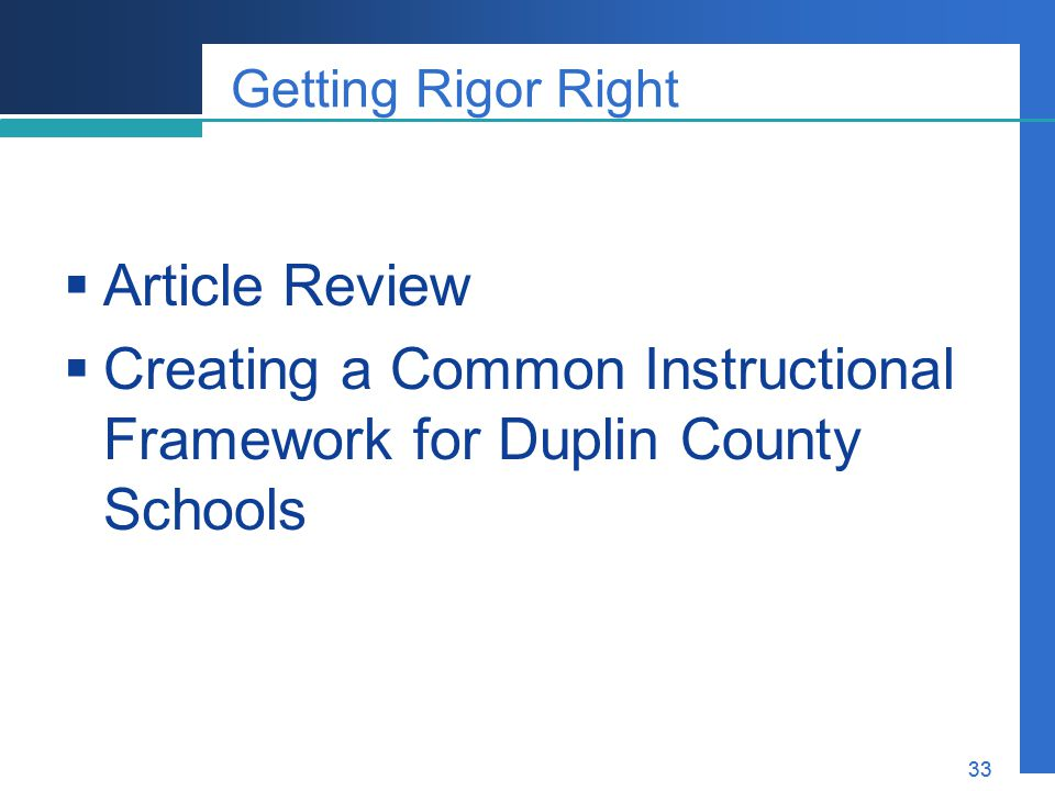 Creating a Common Instructional Framework for Duplin County Schools
