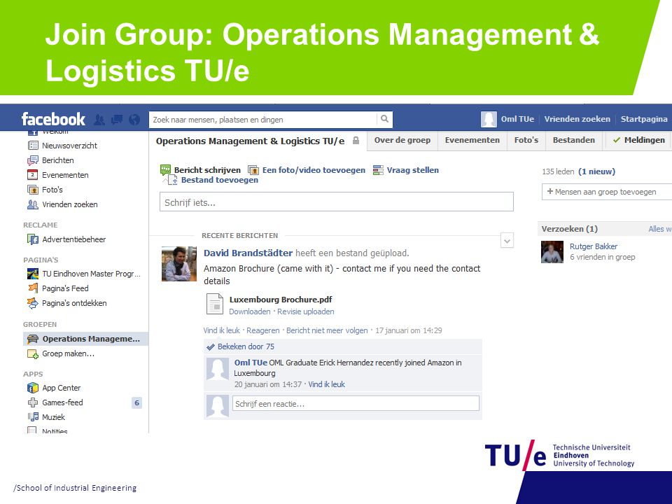 Join Group: Operations Management & Logistics TU/e