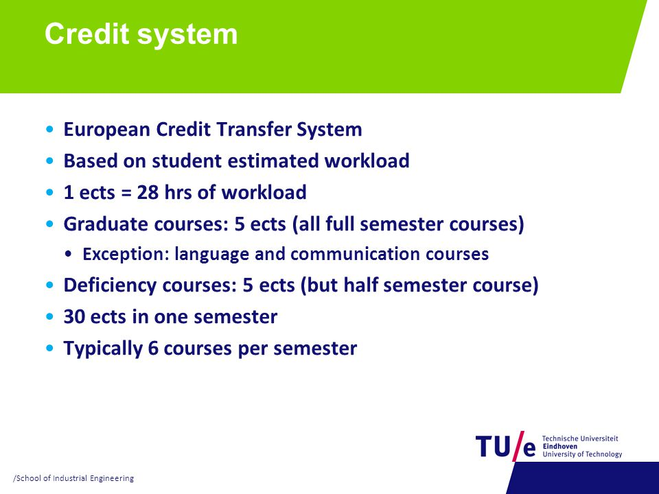 Credit system European Credit Transfer System