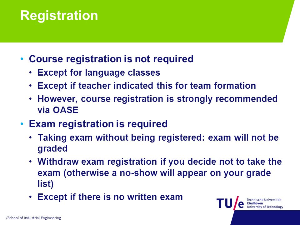 Registration Course registration is not required