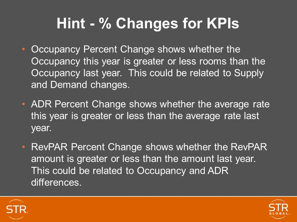 Hint - % Changes for KPIs