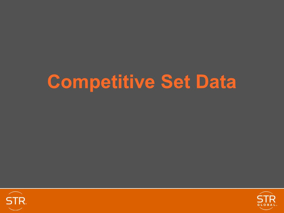 Competitive Set Data