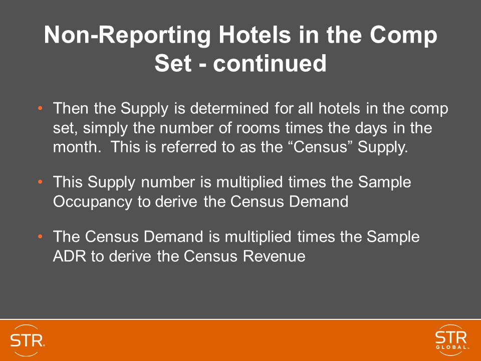 Non-Reporting Hotels in the Comp Set - continued