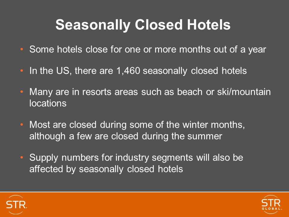 Seasonally Closed Hotels