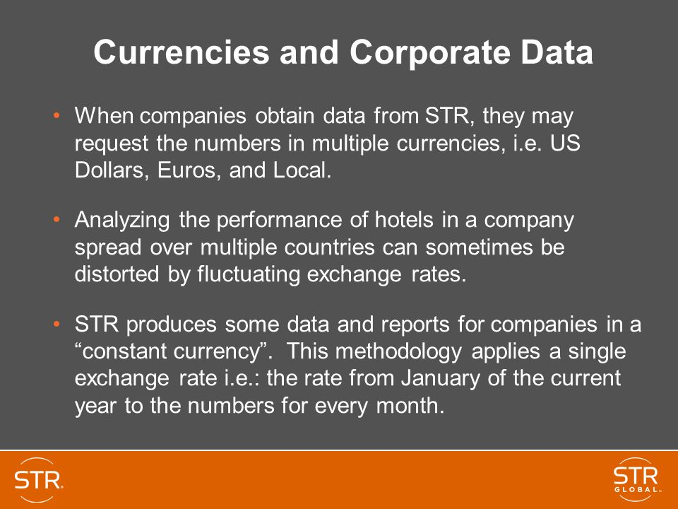 Currencies and Corporate Data