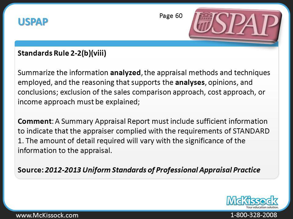 USPAP Standards Rule 2-2(b)(viii)