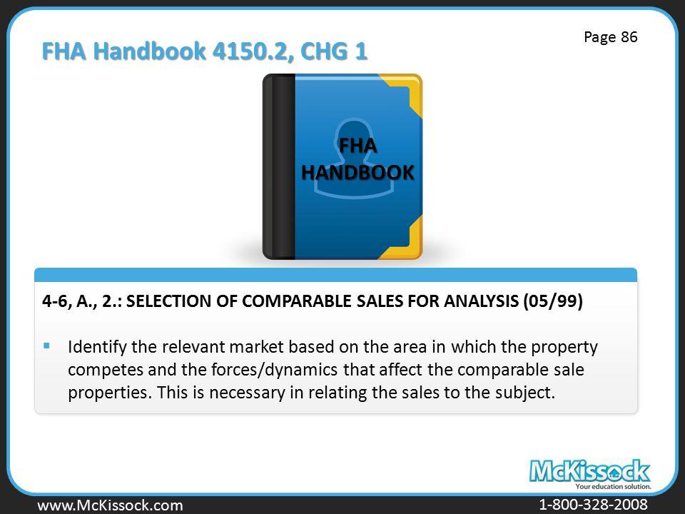 FHA Handbook 4150.2, CHG 1 FHA HANDBOOK