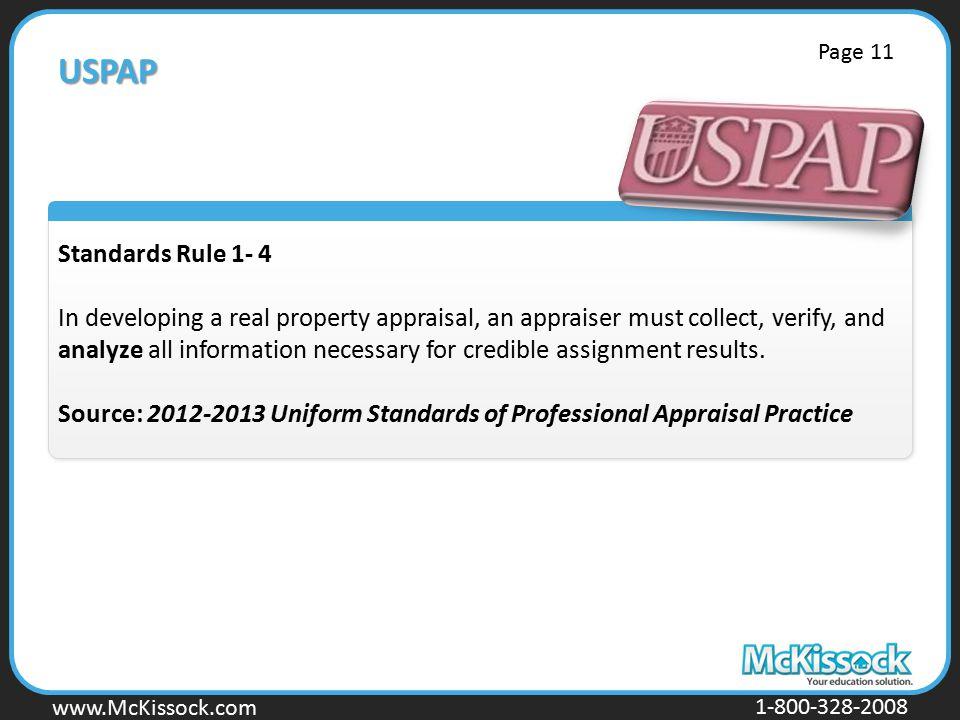 USPAP Page 11. Standards Rule 1- 4.