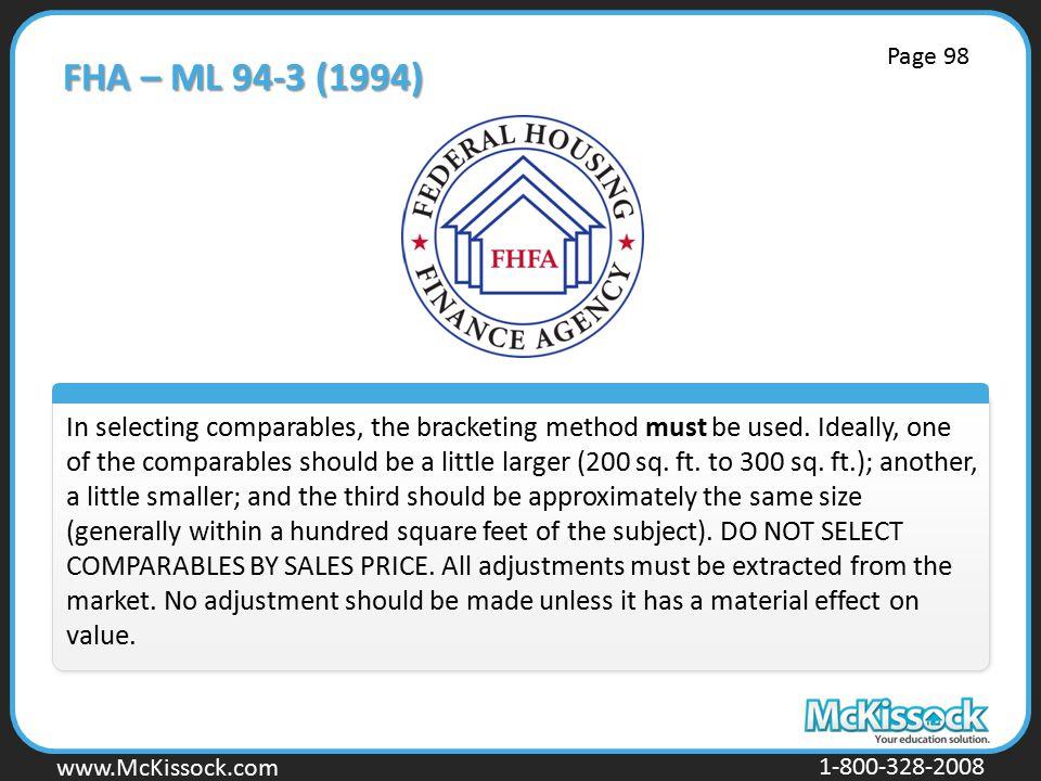 FHA – ML 94-3 (1994) Page 98.