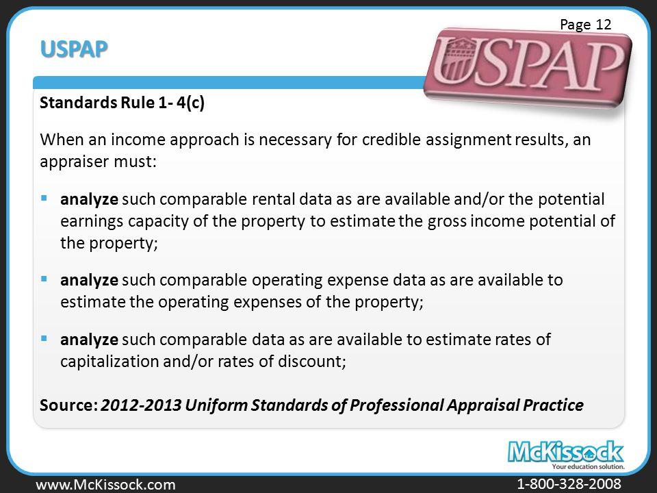 USPAP Standards Rule 1- 4(c)